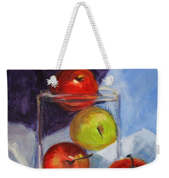 Apple Jar Still Life Painting Weekender Tote Bag