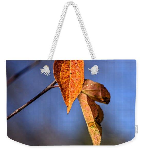 Apple Leaf Weekender Tote Bag