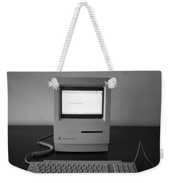 Apple Macintosh Classic Desktop Pc Weekender Tote Bag