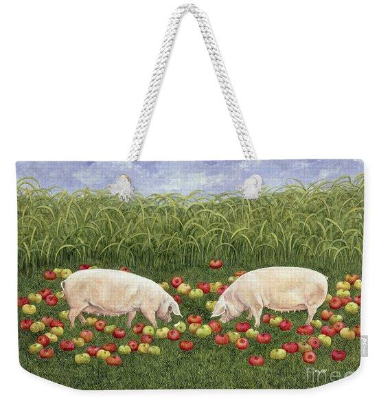 Apple Sows Weekender Tote Bag