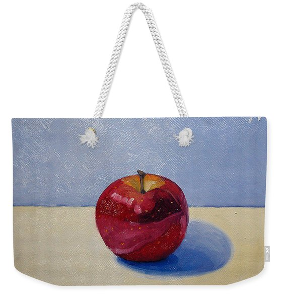 Apple - White And Blue. Weekender Tote Bag