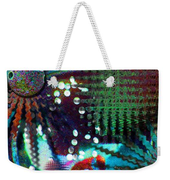 Aqua Dish Weekender Tote Bag