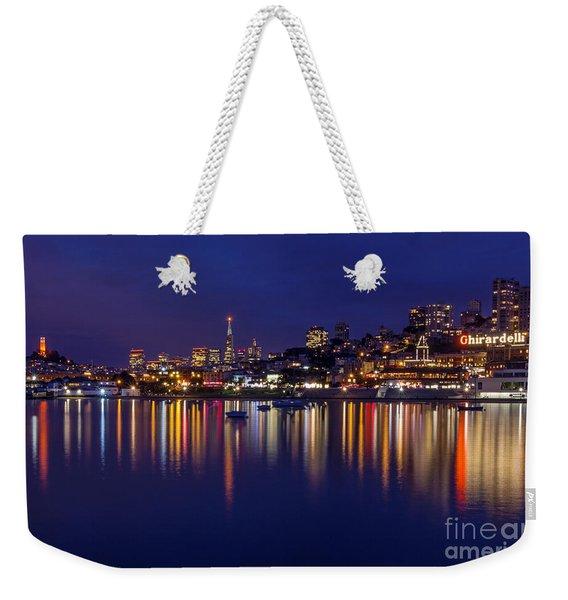 Aquatic Park Blue Hour Wide View Weekender Tote Bag