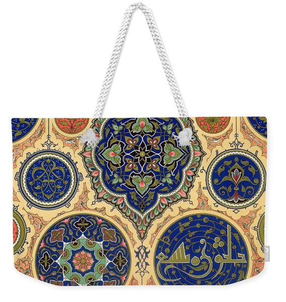 Arabian Decoration Plate Xxvii From Polychrome Ornament Weekender Tote Bag