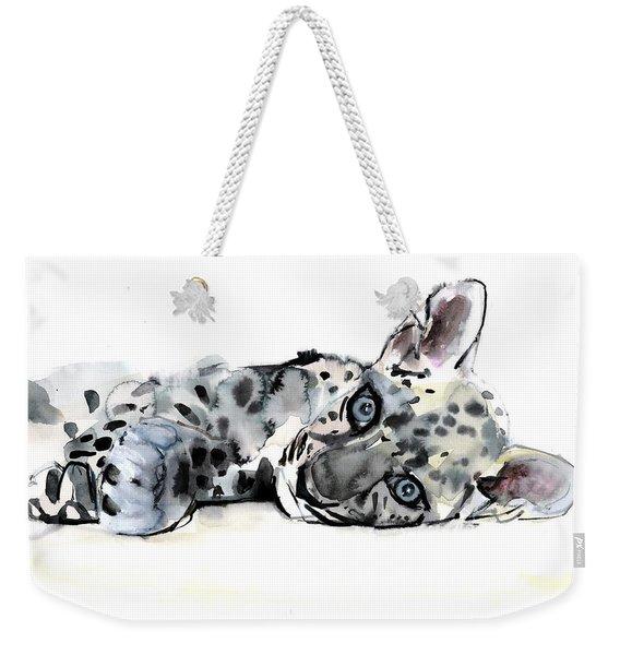 Arabian Leopard Cub Weekender Tote Bag