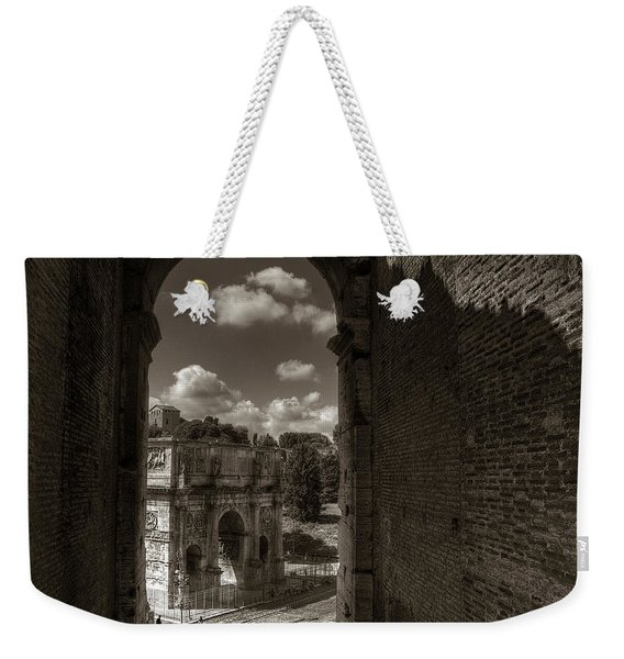 Arch Of Constantine From The Colosseum Weekender Tote Bag