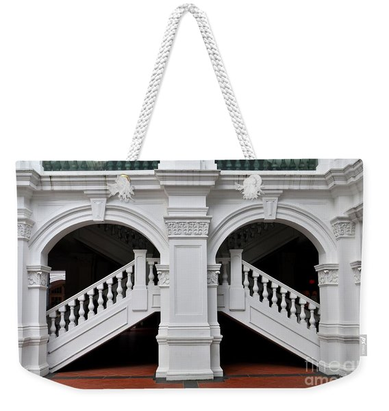 Arch Staircase Balustrade And Columns Weekender Tote Bag