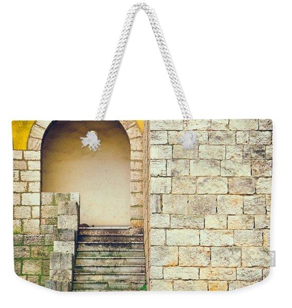 Arched Entrance Weekender Tote Bag
