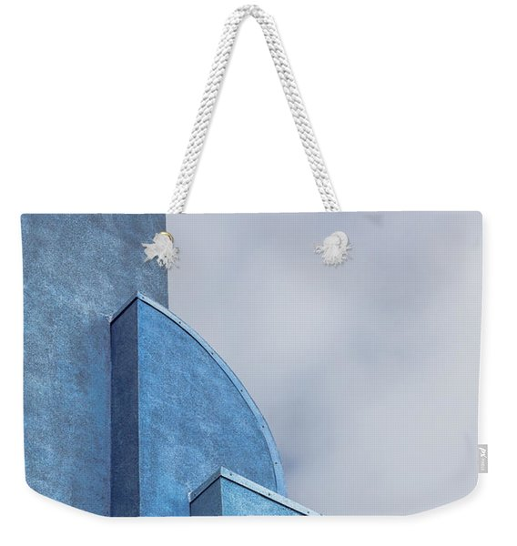 Weekender Tote Bag featuring the photograph Architecture In Blue by Susan Leonard
