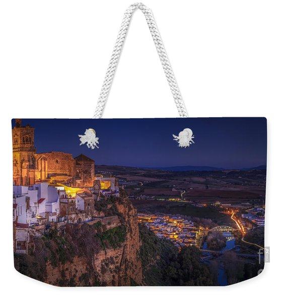 Arcos De La Frontera Panorama From Balcon De La Pena Cadiz Spain Weekender Tote Bag