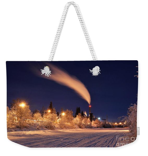 Arctic Power At Night Weekender Tote Bag