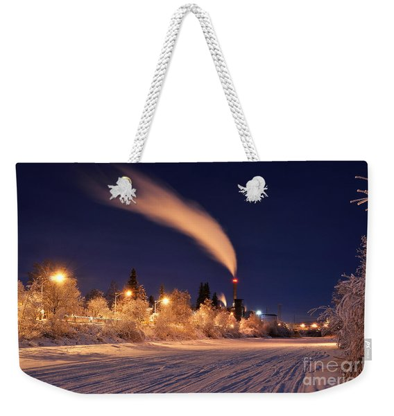 Arctic Power At Night Weekender Tote Bag