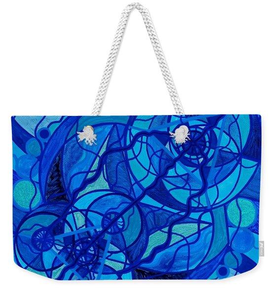 Arcturian Calming Grid Weekender Tote Bag