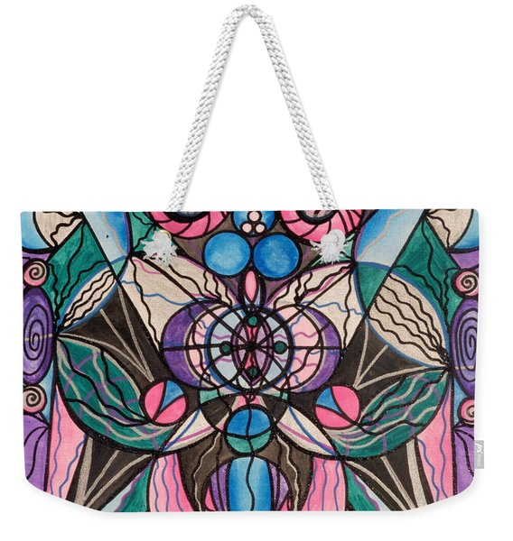Arcturian Healing Lattice  Weekender Tote Bag