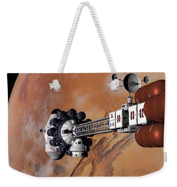 Ares1 Captured Over Valles Marineris Weekender Tote Bag