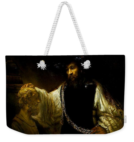 Aristotle Contemplating A Bust Of Homer Weekender Tote Bag