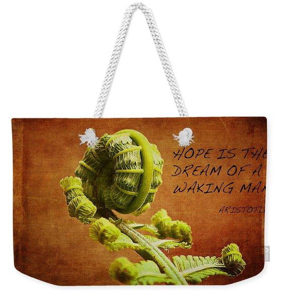 Aristotle Quote Weekender Tote Bag