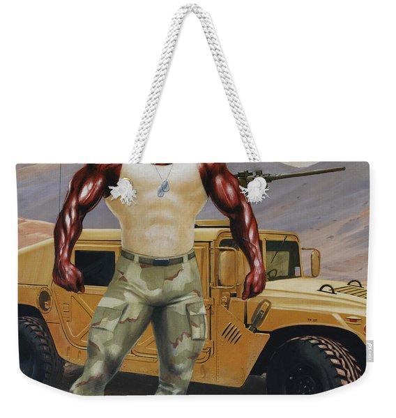 Arkansas Soldier Weekender Tote Bag