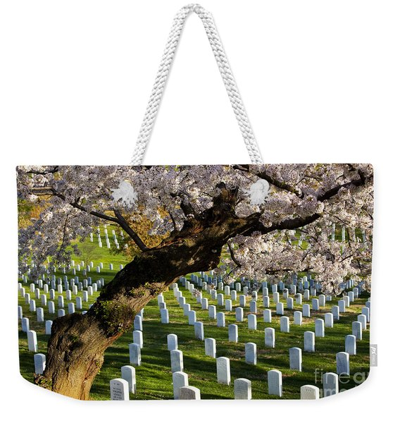Weekender Tote Bag featuring the photograph Arlington National Cemetary by Brian Jannsen