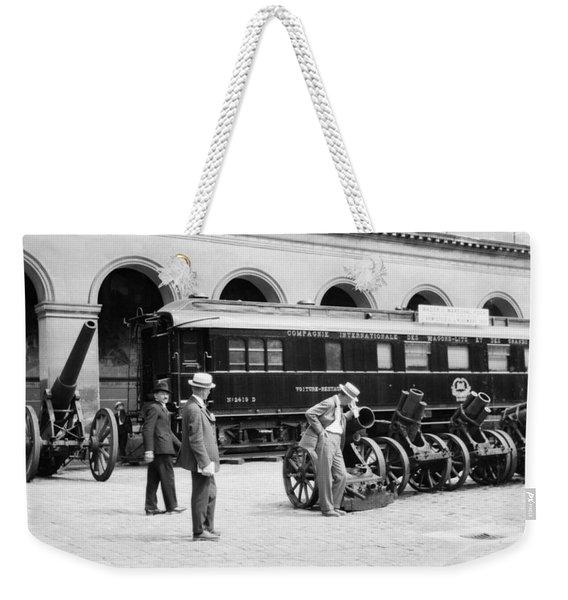 Armistice Railroad Car Weekender Tote Bag