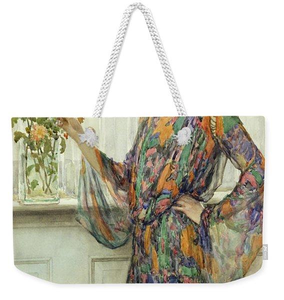 Arranging Flowers Weekender Tote Bag