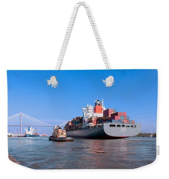 Arrival At Savannah Weekender Tote Bag
