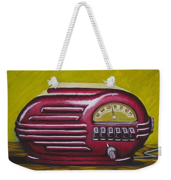 Art Deco Radio Weekender Tote Bag