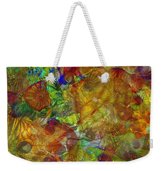 Art Glass Overlay Weekender Tote Bag