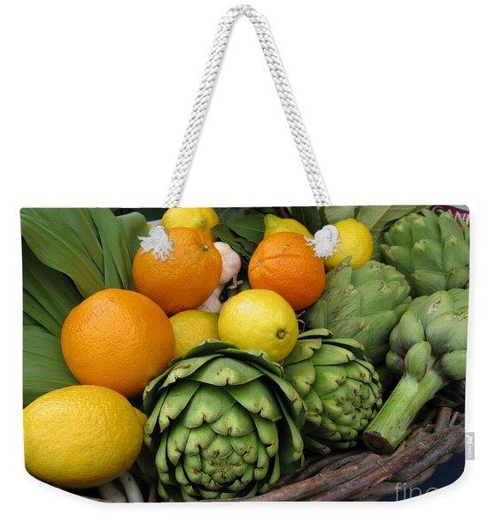 Artichokes Lemons And Oranges Weekender Tote Bag