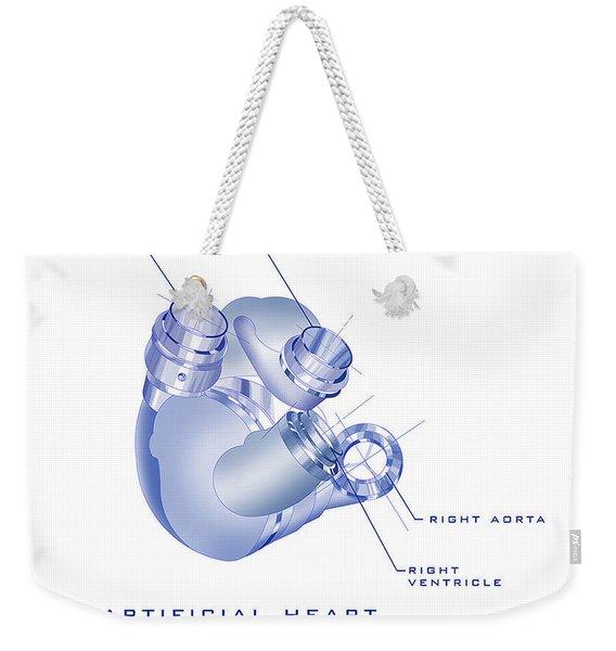 Artificial Heart Weekender Tote Bag