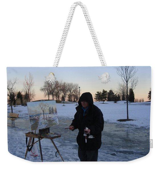 Artist At Work Lake Shore Mississauga On Weekender Tote Bag