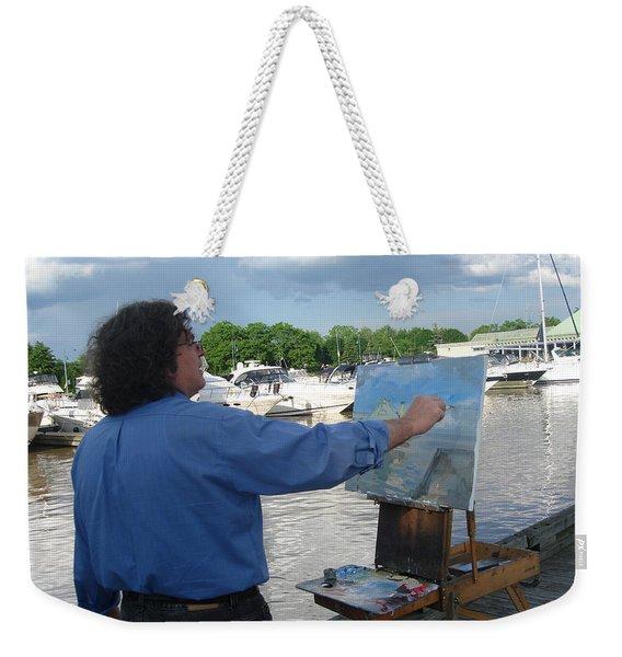 Artist At Work Port Credit Mississauga On Weekender Tote Bag