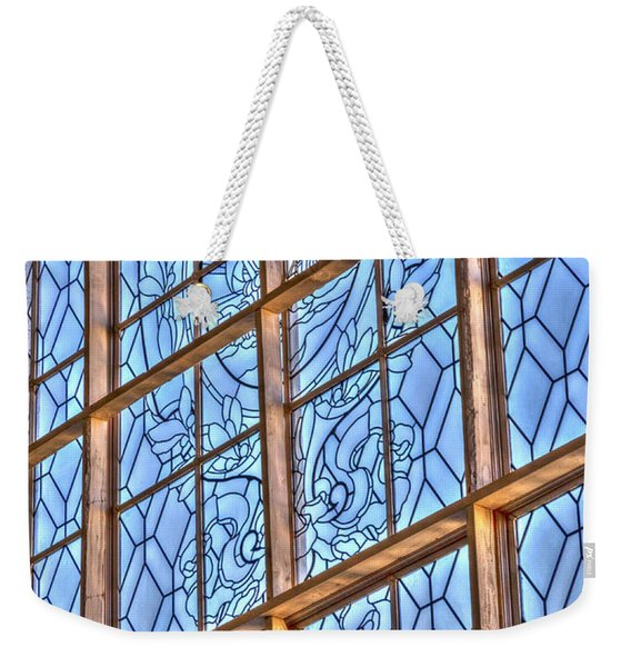 Weekender Tote Bag featuring the photograph Artistic Window by Susan Leonard