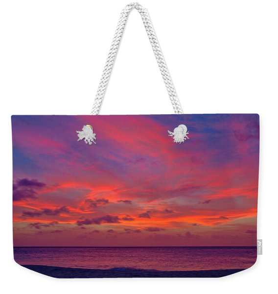 Weekender Tote Bag featuring the photograph Aruba Sunset by Jemmy Archer
