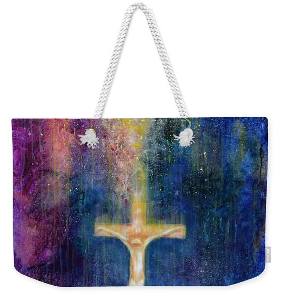 Ascension, 2000 Acrylic On Canvas Weekender Tote Bag