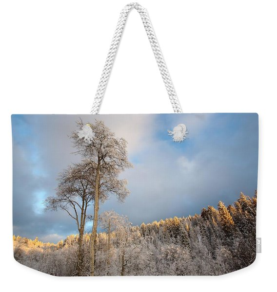 Aspen In Blue Weekender Tote Bag