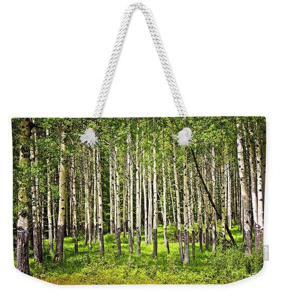 Aspen Trees In Banff National Park Weekender Tote Bag