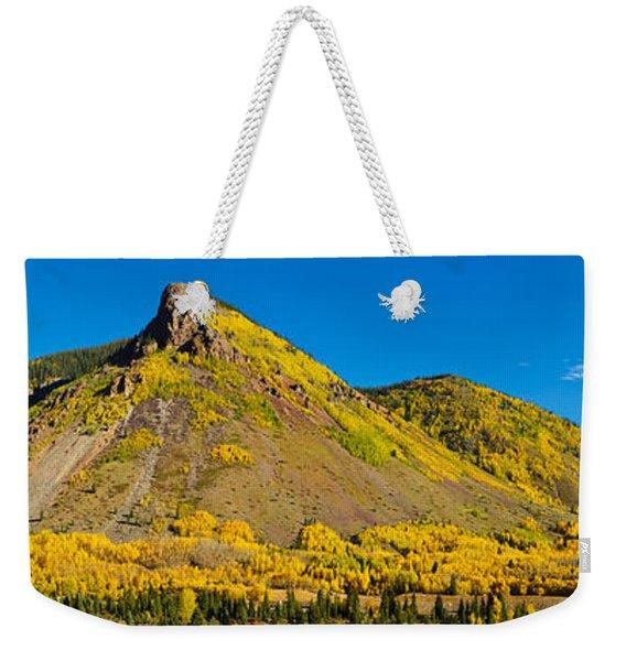 Aspen Trees On Mountain, Anvil Weekender Tote Bag