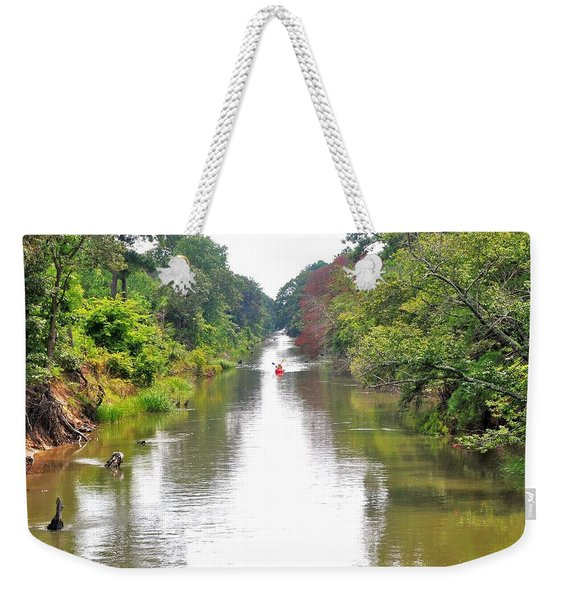 Weekender Tote Bag featuring the photograph Assawoman Canal - Delaware by Kim Bemis