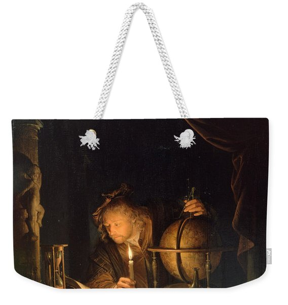 Astronomer By Candlelight Weekender Tote Bag