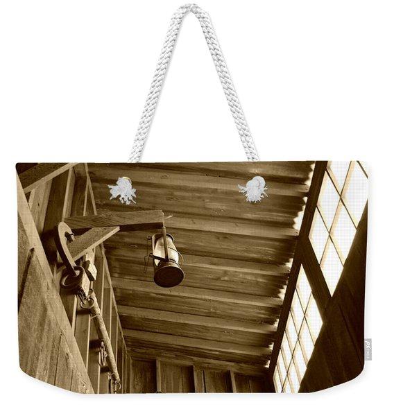 At The Museum - Sepia Weekender Tote Bag