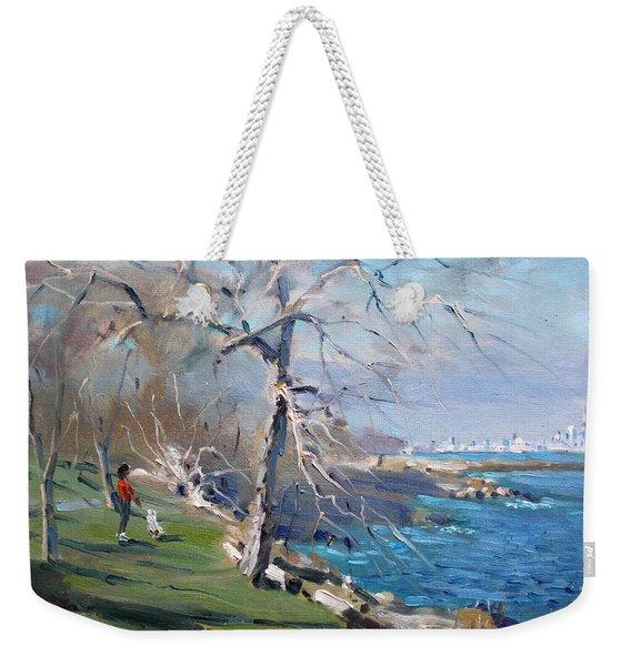At The Park By Lake Ontario Weekender Tote Bag