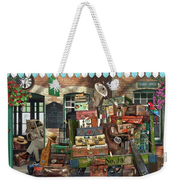 At The Train Station Weekender Tote Bag