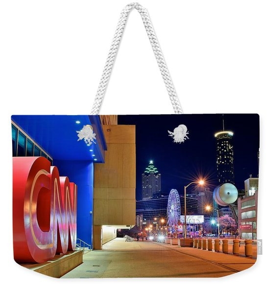 Atlanta Outside Cnn Weekender Tote Bag