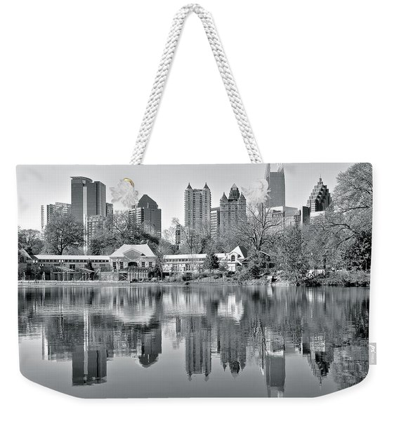 Atlanta Reflecting In Black And White Weekender Tote Bag