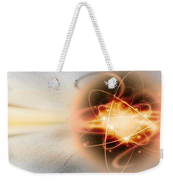 Atom Collision Weekender Tote Bag