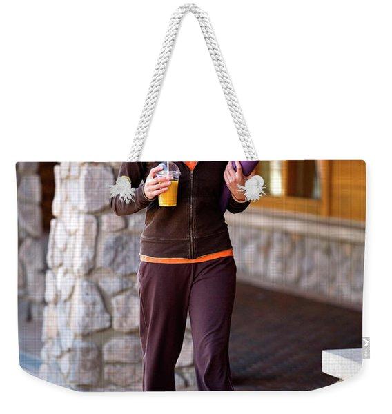 Attractive Woman Hanging Weekender Tote Bag