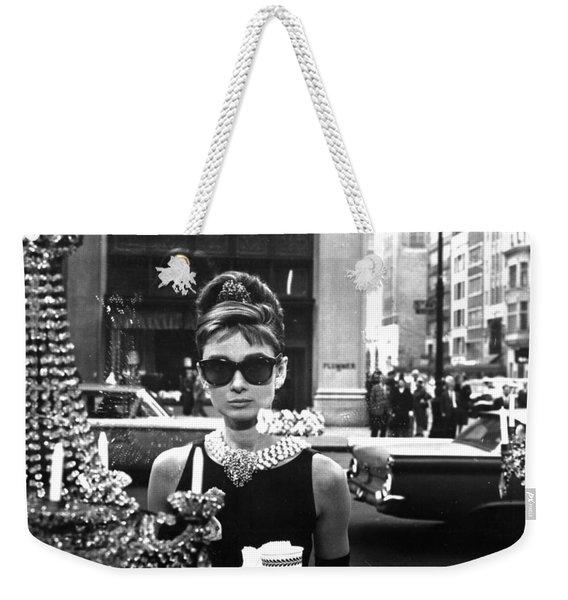 Audrey Hepburn Breakfast At Tiffany's Weekender Tote Bag