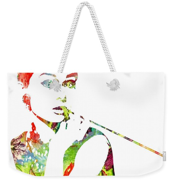 Audrey Hepburn - Watercolor Weekender Tote Bag