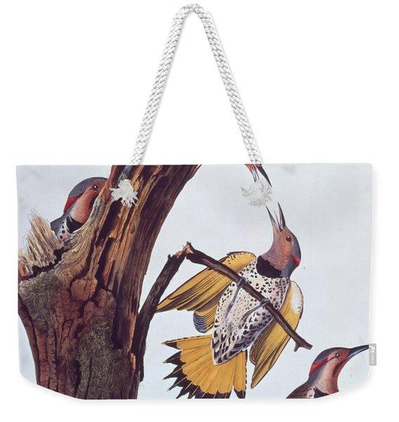 Audubon Golden-winged Woodpeckers Weekender Tote Bag